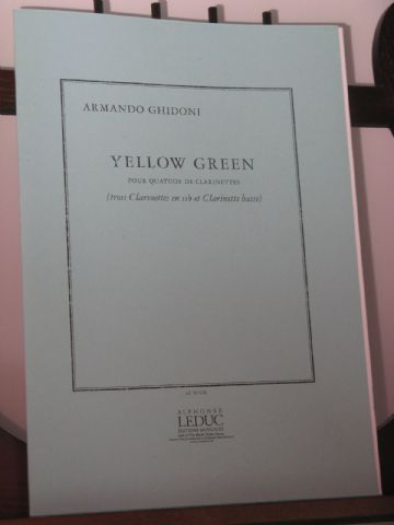 Ghidoni A - Yellow Green for Clarinet Quartet